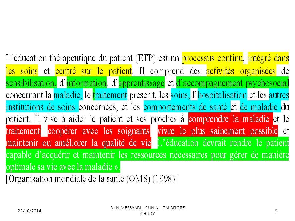23/10/2014 Dr N.MESSAADI - CUNIN - CALAFIORE CHUDY 5