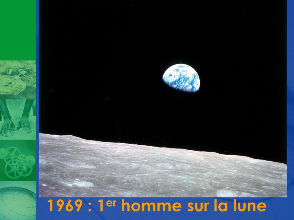 1969 : 1 er homme sur la lune
