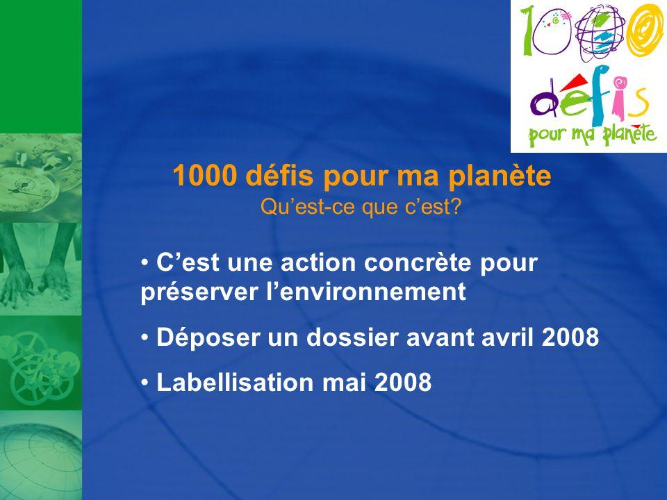 1000 défis pour ma planète Qu'est-ce que c'est.