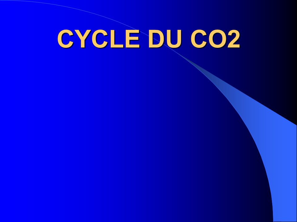 CYCLE DU CO2