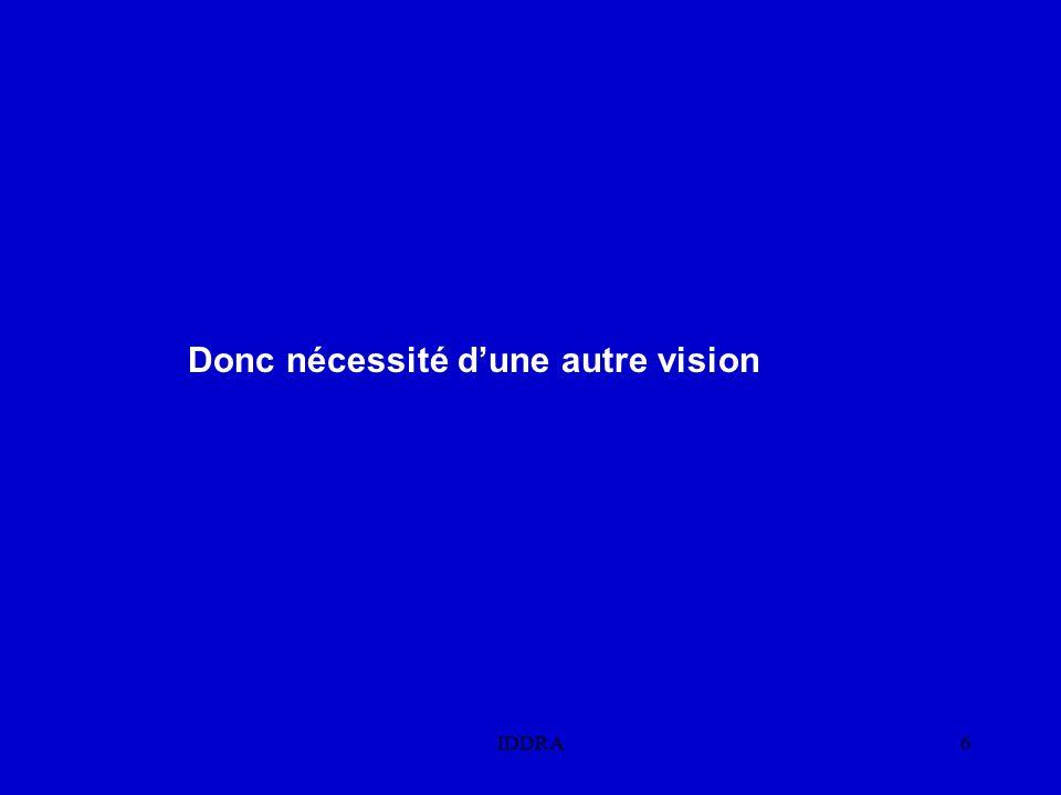 IDDRA6 Donc nécessité d'une autre vision