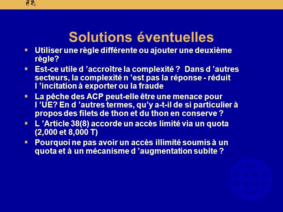 AB Solutions éventuelles  Utiliser une règle différente ou ajouter une deuxième règle.