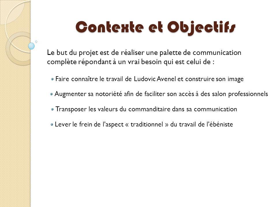 Contexte et Objectifs Le but du projet est de réaliser une palette de communication complète répondant à un vrai besoin qui est celui de : Faire conna