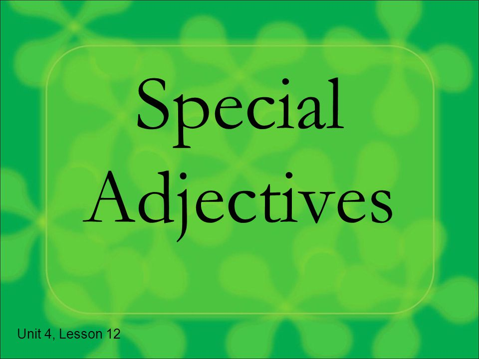 Reminder…where do adjectives usually go in French? Answer: After the noun