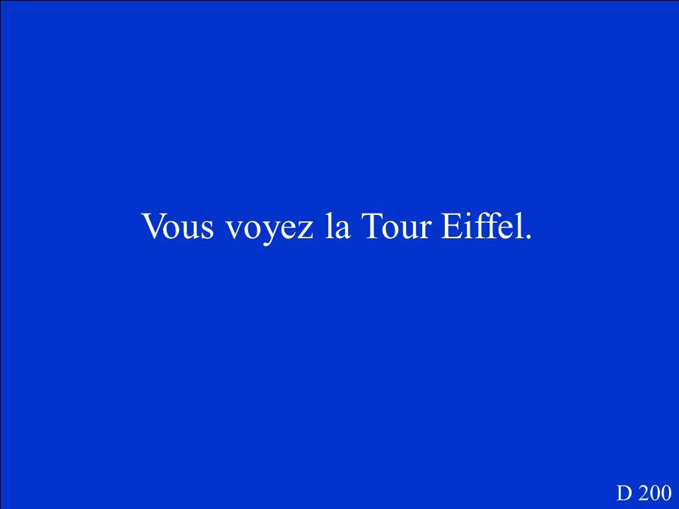 Vous/la Tour Eiffel D 200
