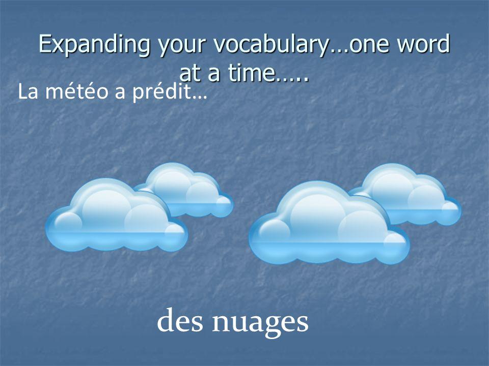 Expanding your vocabulary…one word at a time….. La météo a prédit… de la brume (mist)
