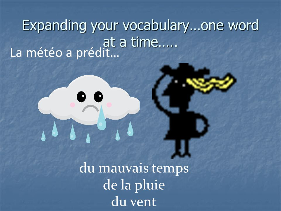 Expanding your vocabulary…one word at a time…..