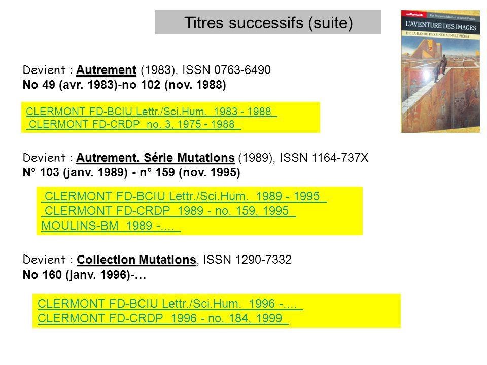 Autrement Devient : Autrement (1983), ISSN 0763-6490 No 49 (avr.
