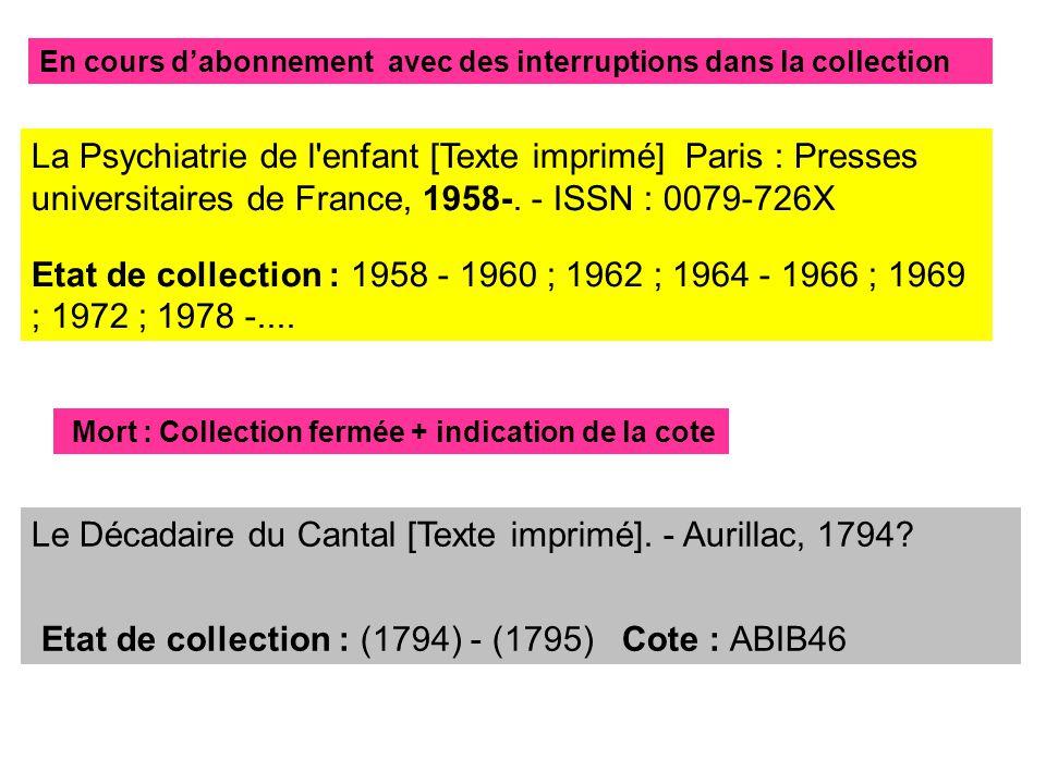 Le Décadaire du Cantal [Texte imprimé]. - Aurillac, 1794.