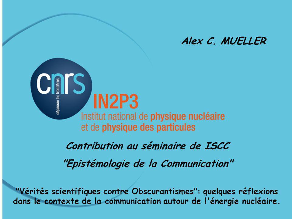 1 Séminaire ISCC, Paris, 18 Juin 2009 Alex C.