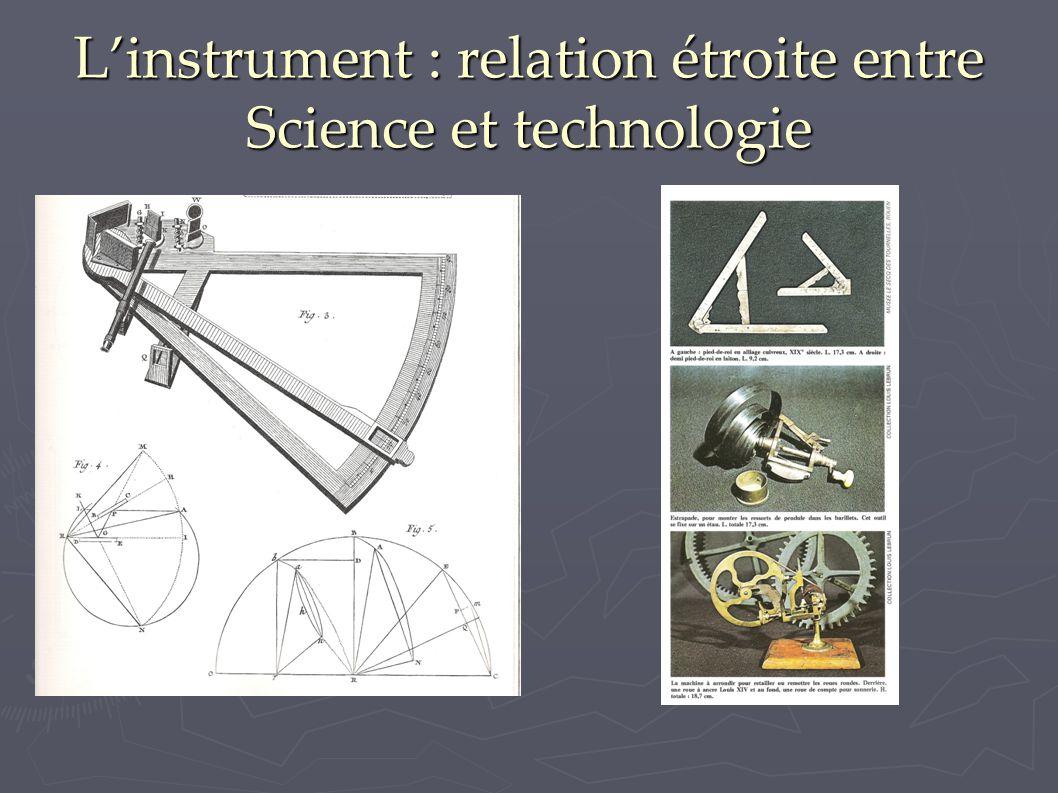 L'instrument : relation étroite entre Science et technologie