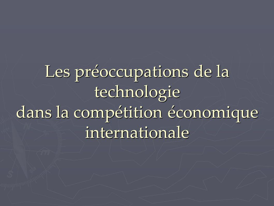 Les préoccupations de la technologie dans la compétition économique internationale