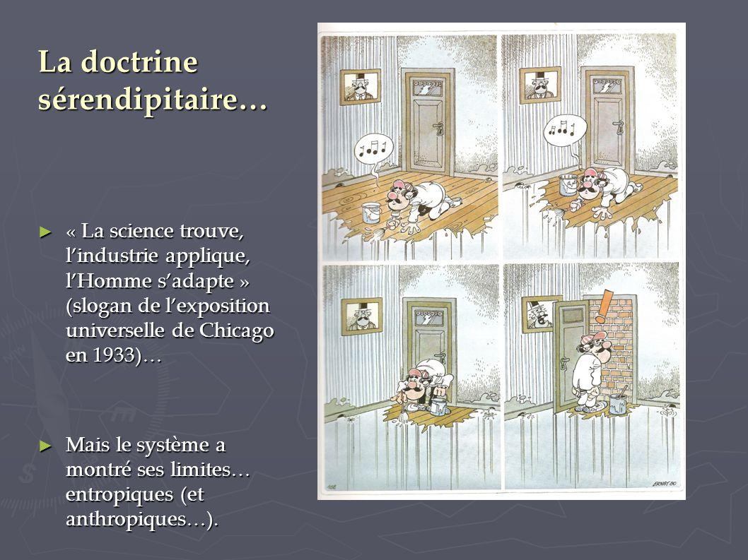 La doctrine sérendipitaire… ► « La science trouve, l'industrie applique, l'Homme s'adapte » (slogan de l'exposition universelle de Chicago en 1933)… ►