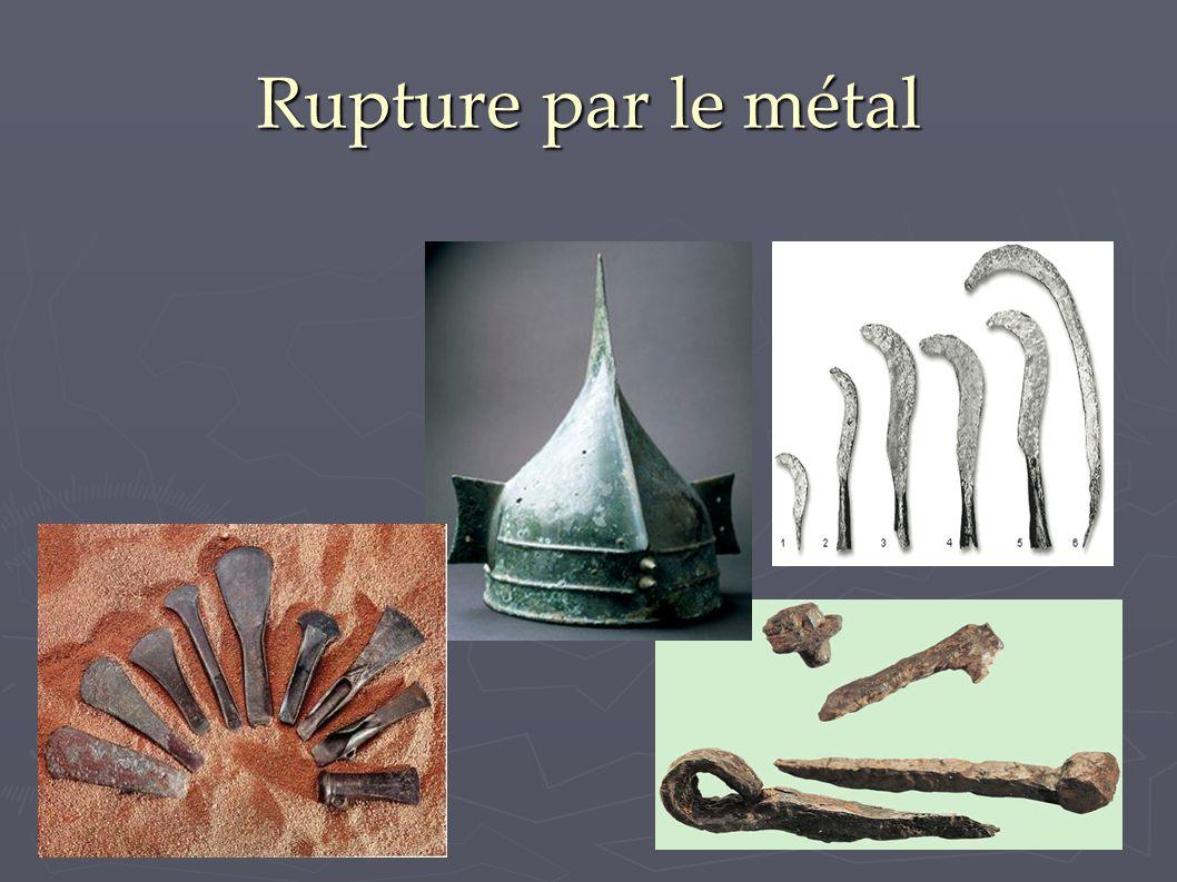 Rupture par le métal