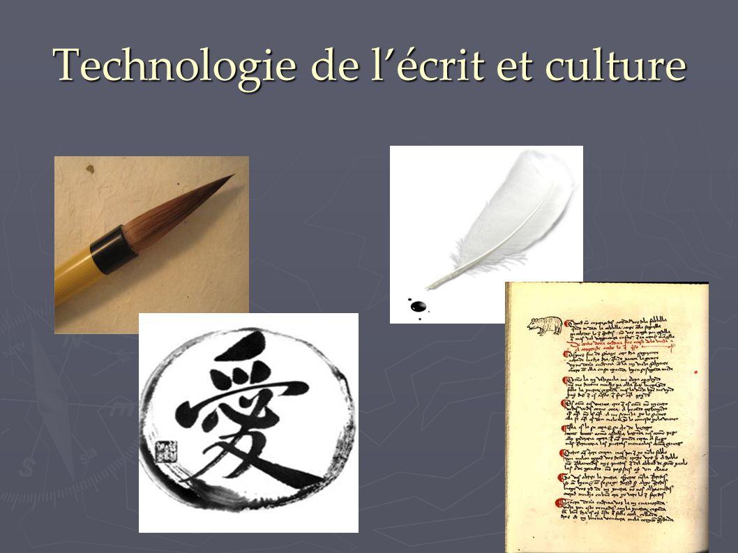 Technologie de l'écrit et culture