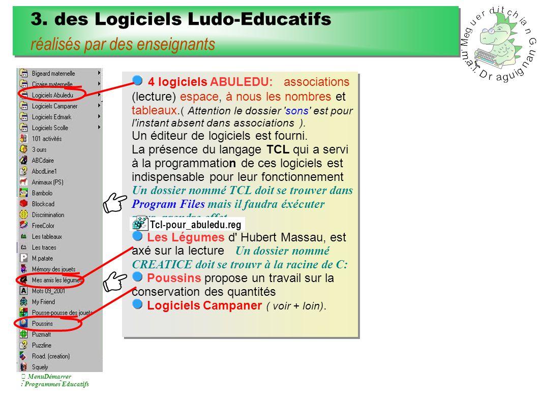 4.des Logiciels Ludo-Educatifs anglo-saxons non traduits mais exploitables 4.