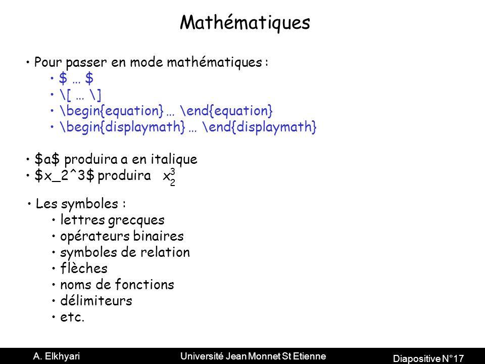 Diapositive N°17 A.
