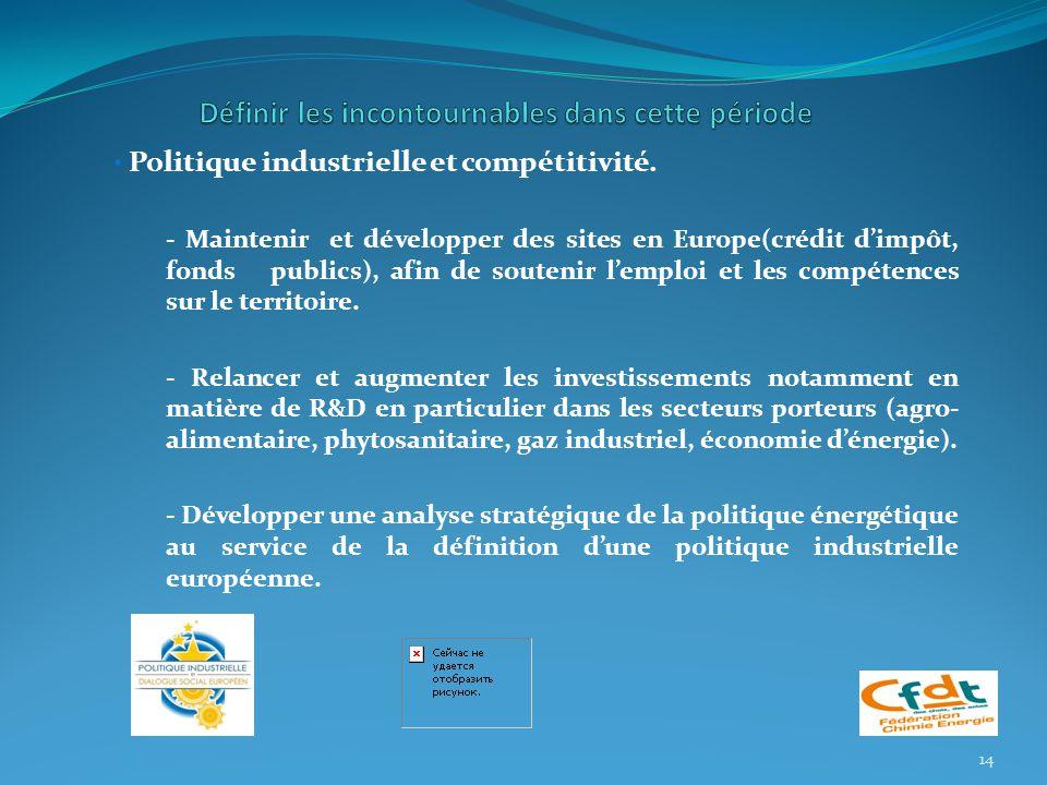 Politique industrielle et compétitivité.