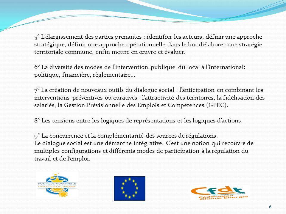 5° L'élargissement des parties prenantes : identifier les acteurs, définir une approche stratégique, définir une approche opérationnelle dans le but d'élaborer une stratégie territoriale commune, enfin mettre en œuvre et évaluer.