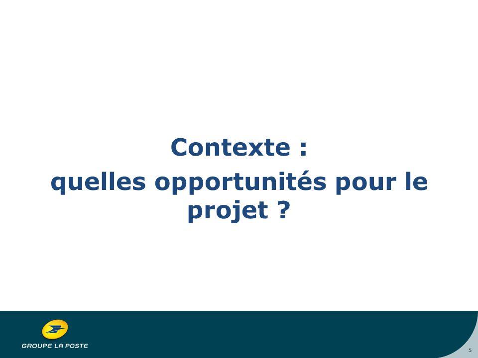 5 Contexte : quelles opportunités pour le projet 5