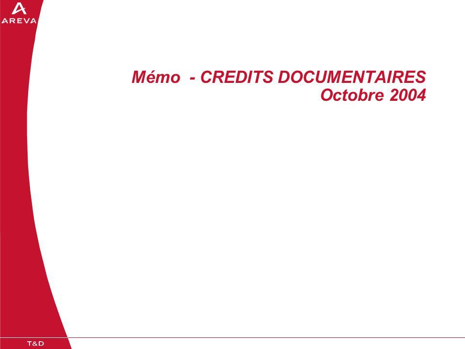 Mémo - CREDITS DOCUMENTAIRES Octobre 2004