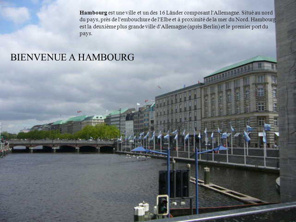 On appelle Hambourg la Venise Allemande, car la ville est traversée par des canaux.