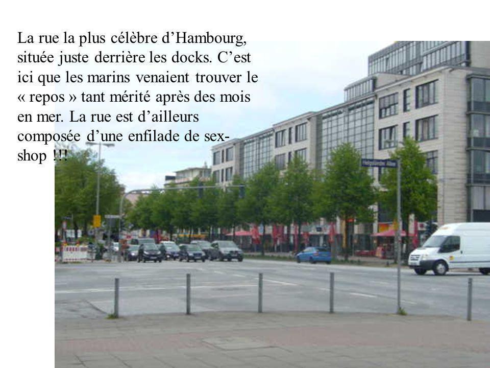 La rue la plus célèbre d'Hambourg, située juste derrière les docks.