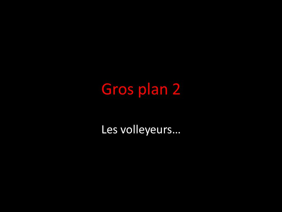 Gros plan 2 Les volleyeurs…