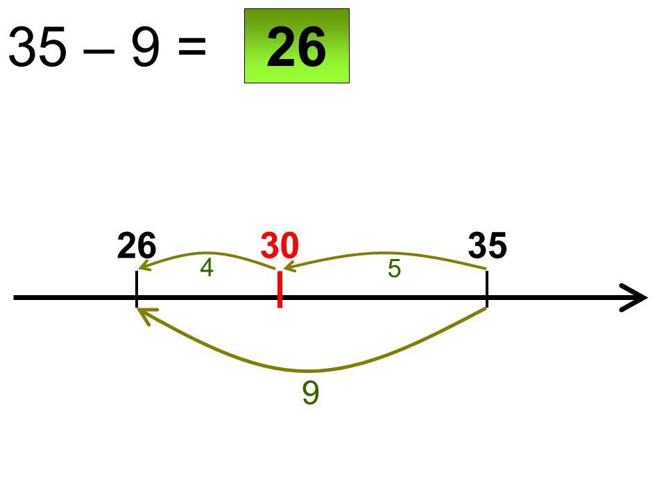 30 35 – 9 = 2635 9 26 5 4
