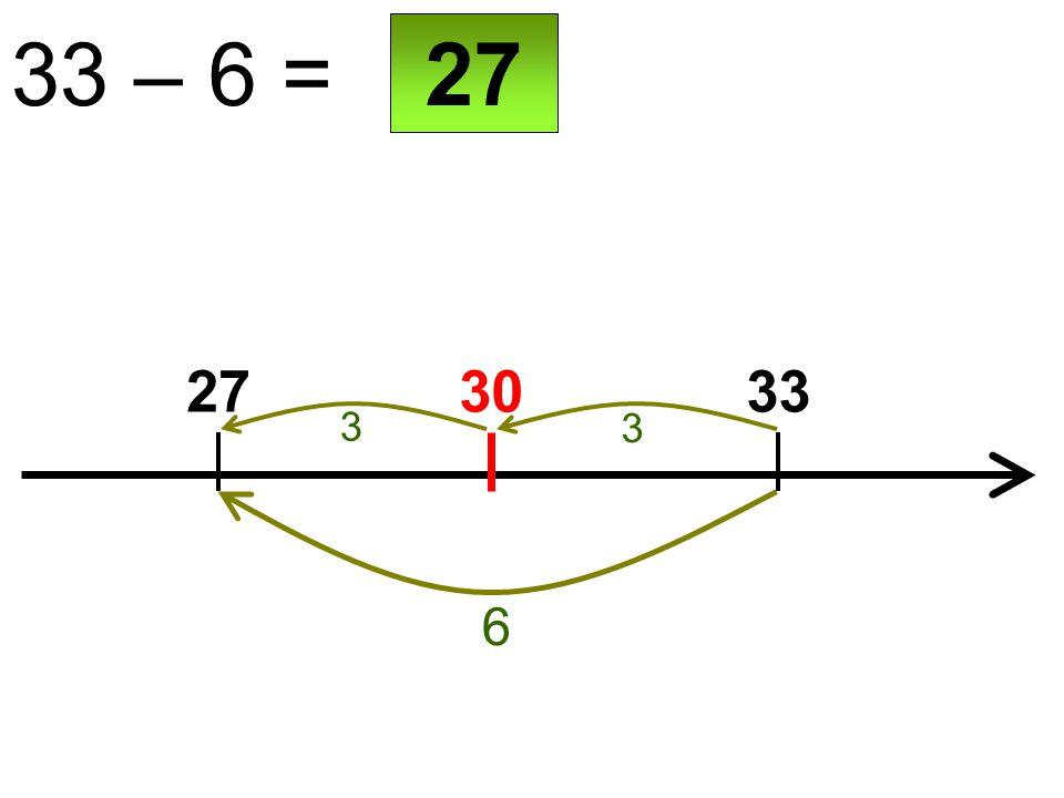 30 33 – 6 = 2733 6 27 3 3
