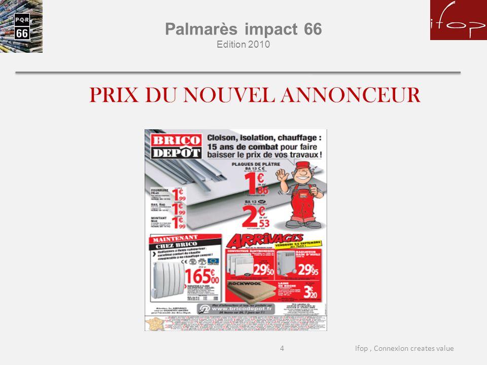 Palmarès impact 66 Edition 2010 PRIX DU NOUVEL ANNONCEUR 4Ifop, Connexion creates value