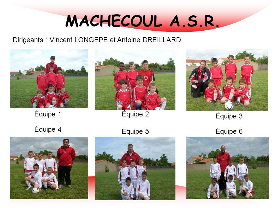 FC LOGNE BOULOGNE LIMOUZINIERE Dirigeants : Marie RABILLE et Jean-Philippe COUE Équipe 2 Équipe 3 Équipe 4 Équipe 5