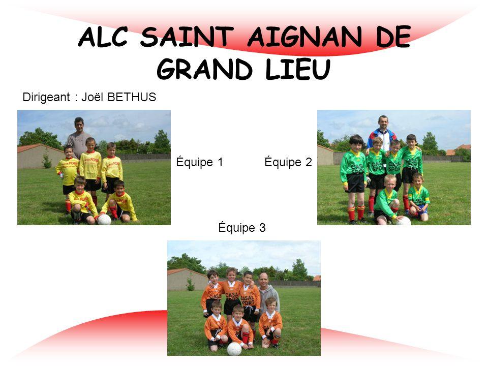 ELAN DES SORINIERES Dirigeant : Philippe MESSAGER Équipe 1 Équipe 2 Équipe 3
