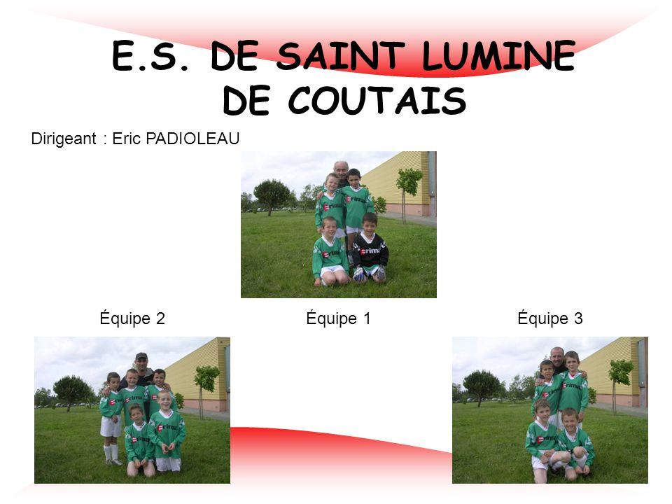 ALC SAINT AIGNAN DE GRAND LIEU Dirigeant : Joël BETHUS Équipe 1Équipe 2 Équipe 3