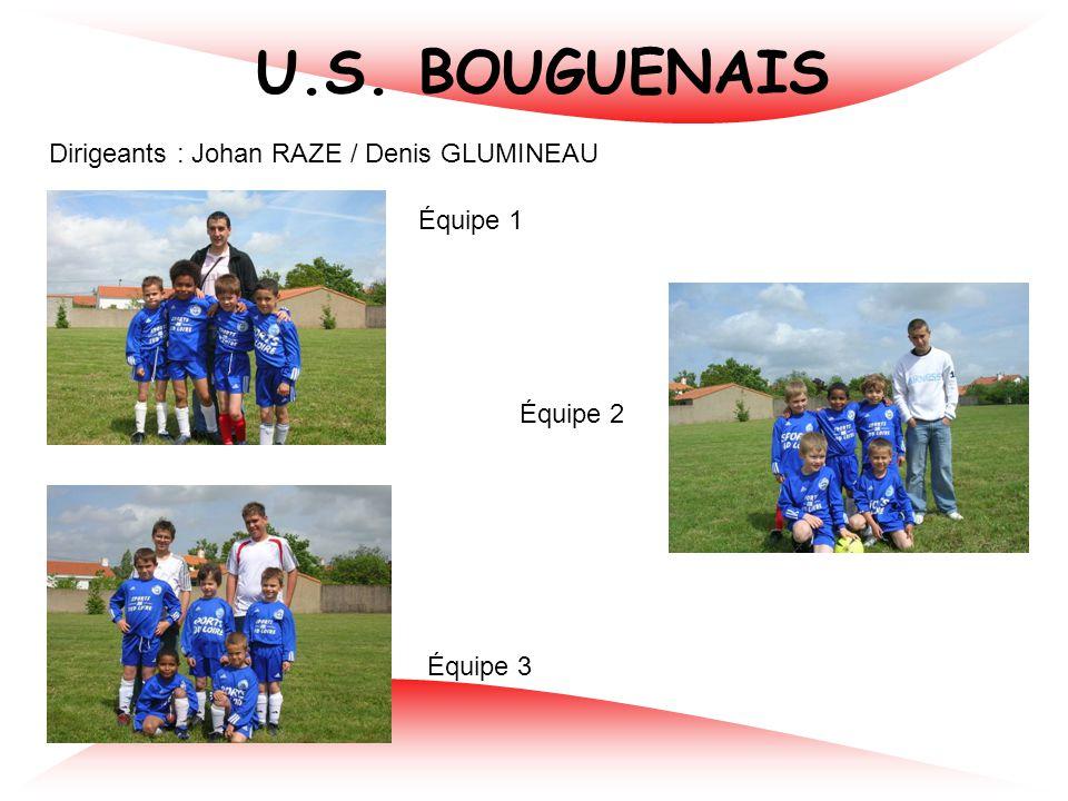 U.S. BOUGUENAIS Dirigeants : Johan RAZE / Denis GLUMINEAU Équipe 1 Équipe 2 Équipe 3