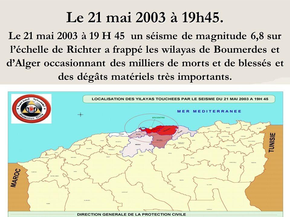 24/10/2014Sous Direction du Secours Médicalisé Le 21 mai 2003 à 19h45.