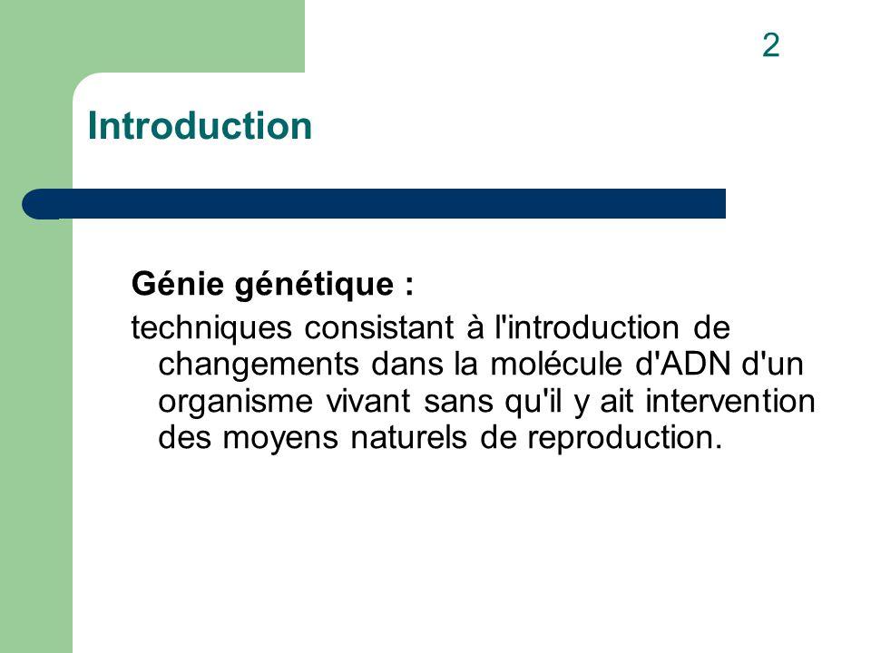 I.Principes 1. Production de protéines spécifiques par des organismes unicellulaires 2.