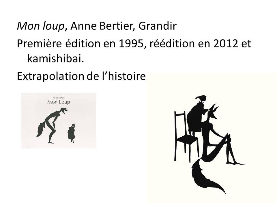 Mon loup, Anne Bertier, Grandir Première édition en 1995, réédition en 2012 et kamishibai. Extrapolation de l'histoire.