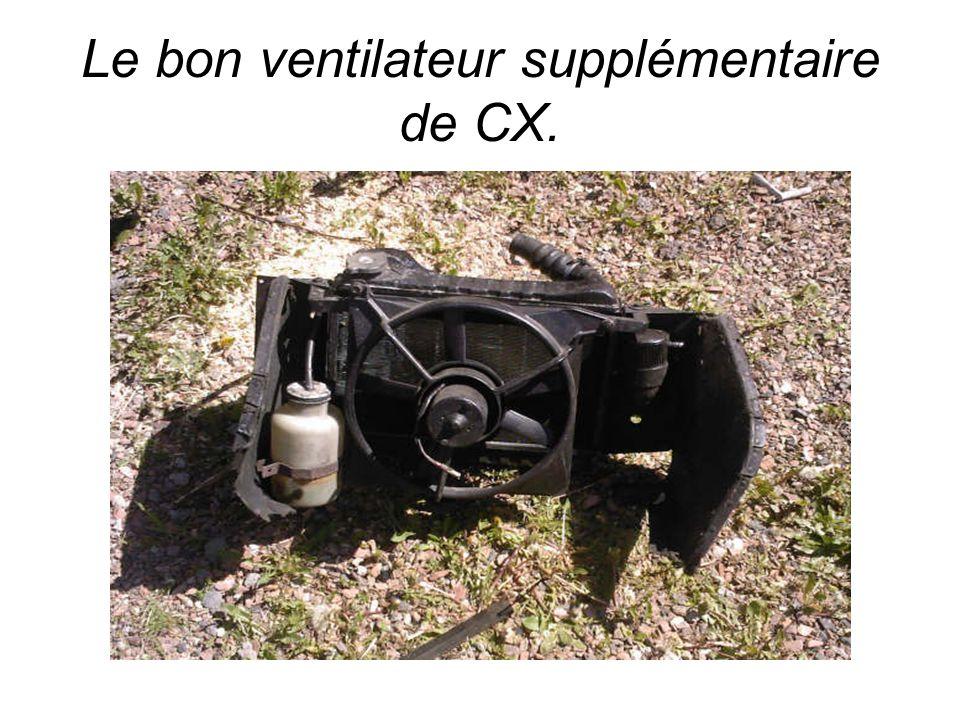 Le bon ventilateur supplémentaire de CX.