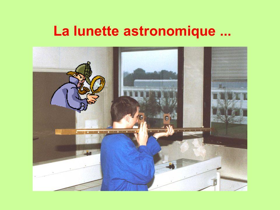 La lunette astronomique...