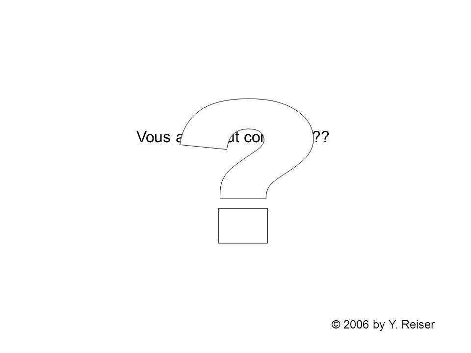 Vous avez tout compris ??? © 2006 by Y. Reiser