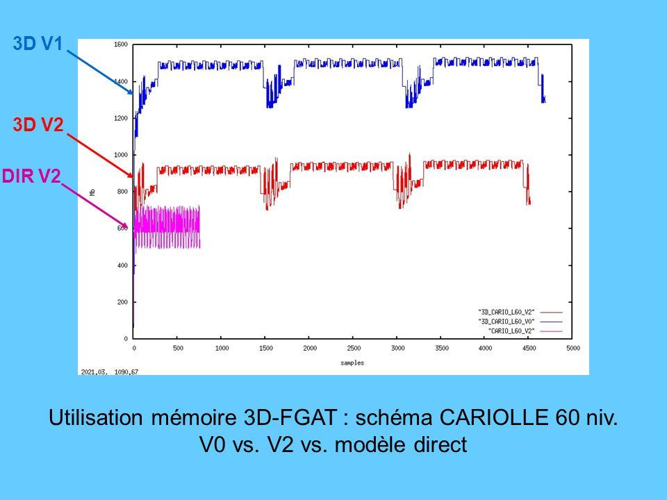 Utilisation mémoire 3D-FGAT : schéma CARIOLLE 60 niv.