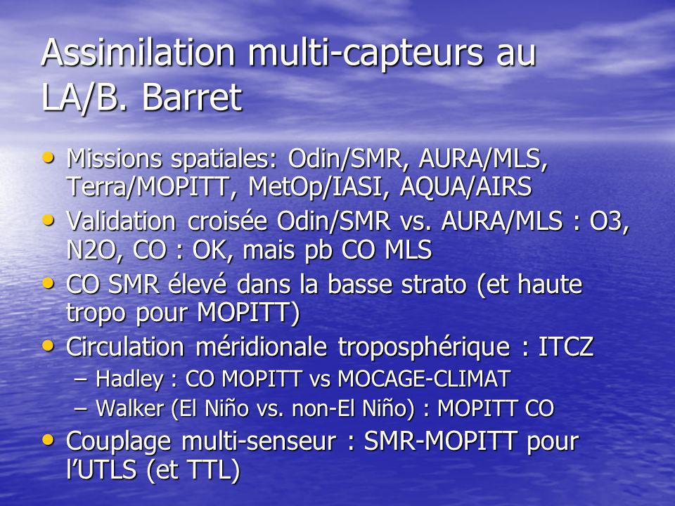 Assimilation multi-capteurs au LA/B.