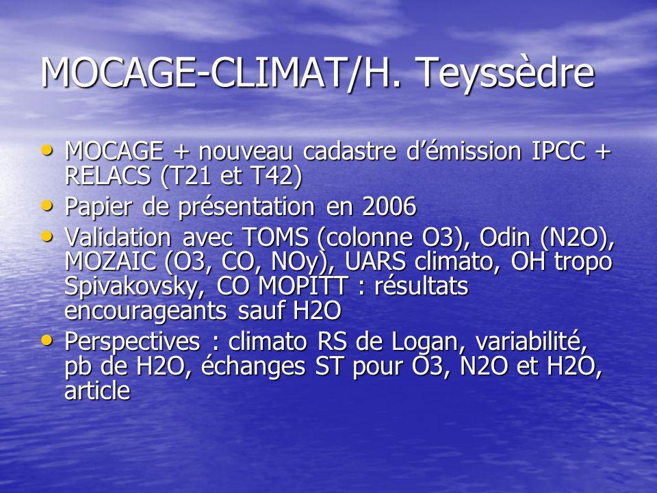 MOCAGE-CLIMAT/H.