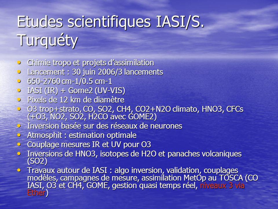 Etudes scientifiques IASI/S.