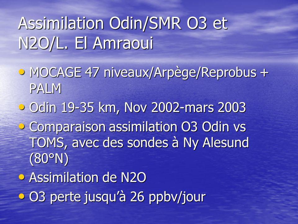 Assimilation Odin/SMR O3 et N2O/L.