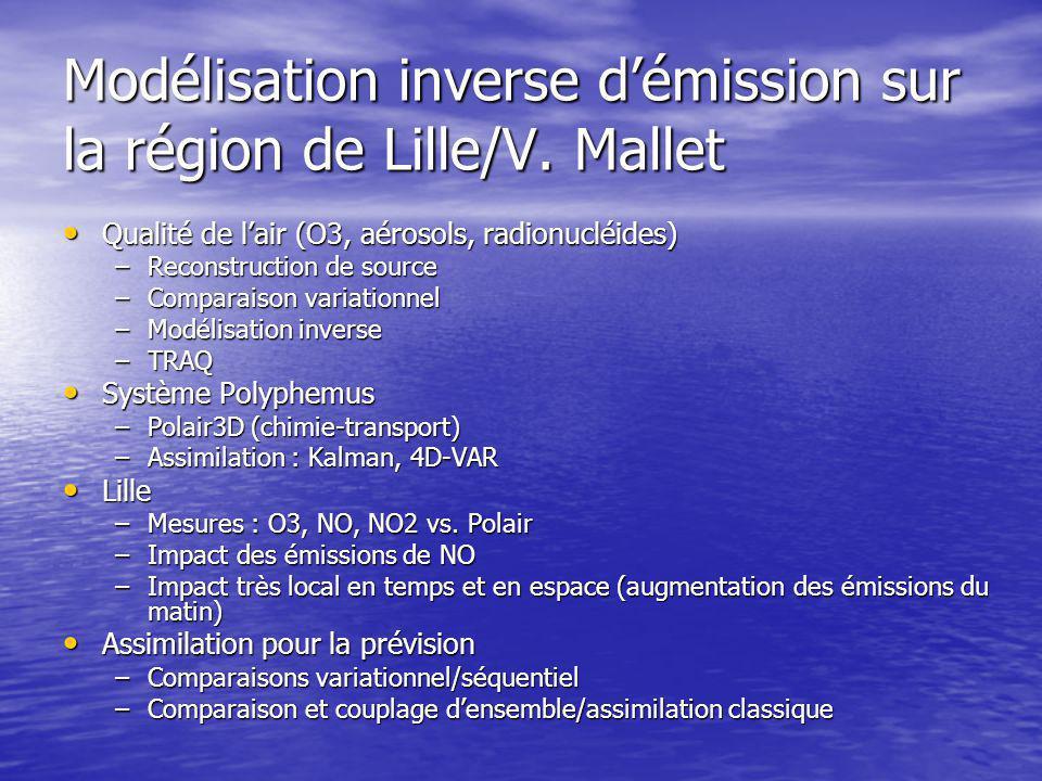 Modélisation inverse d'émission sur la région de Lille/V.