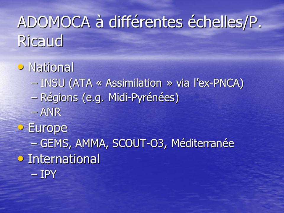 ADOMOCA à différentes échelles/P.