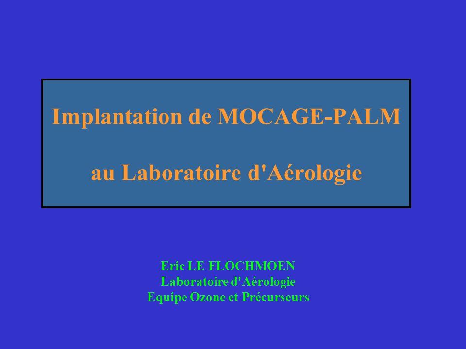 Implantation de MOCAGE-PALM au Laboratoire d'Aérologie Eric LE FLOCHMOEN Laboratoire d'Aérologie Equipe Ozone et Précurseurs