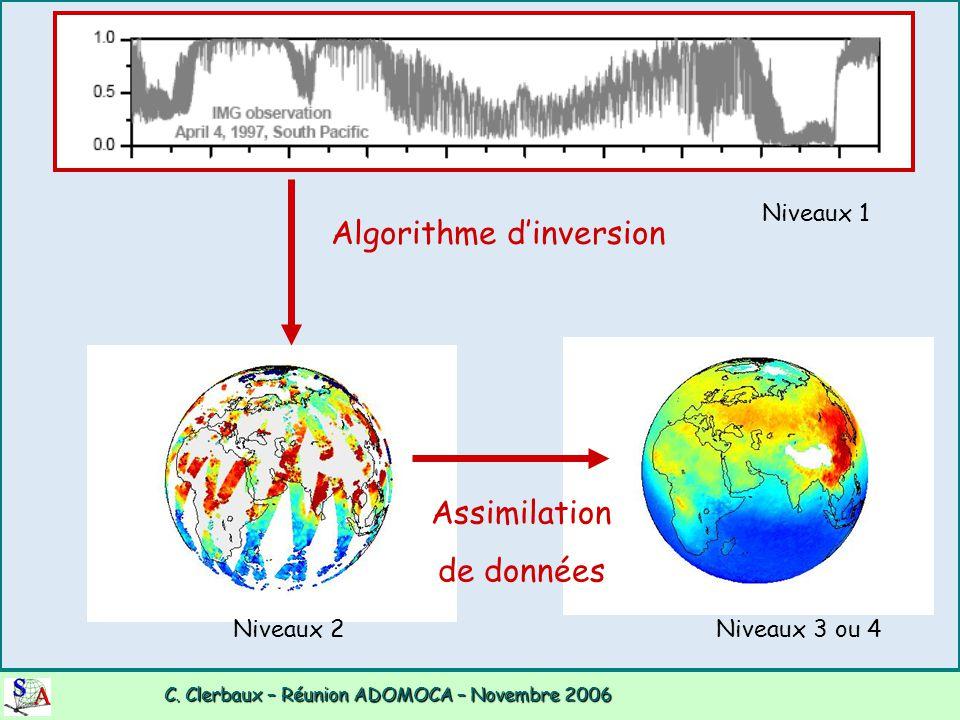 C. Clerbaux – Réunion ADOMOCA – Novembre 2006 C. Clerbaux – Réunion ADOMOCA – Novembre 2006 Algorithme d'inversion Assimilation de données Niveaux 1 N